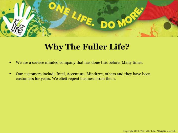 Why The Fuller Life?