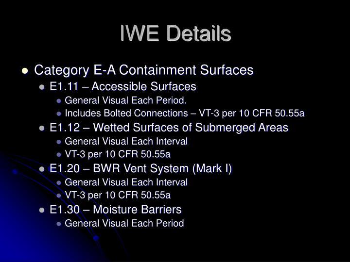 IWE Details