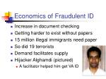 economics of fraudulent id