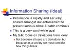 information sharing ideal