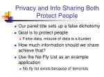 privacy and info sharing both protect people