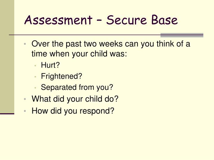 Assessment – Secure Base