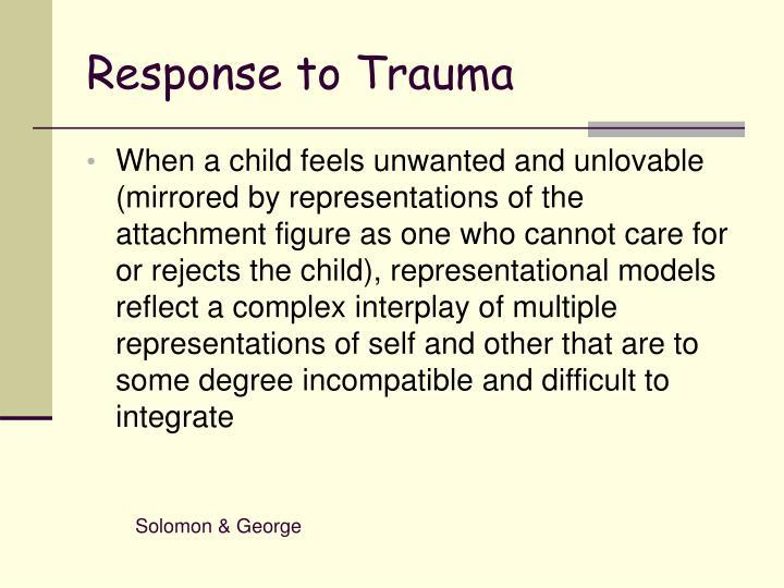 Response to Trauma