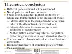 theoretical conclusion