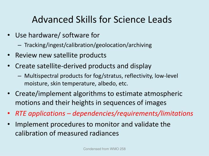 Advanced Skills for Science Leads