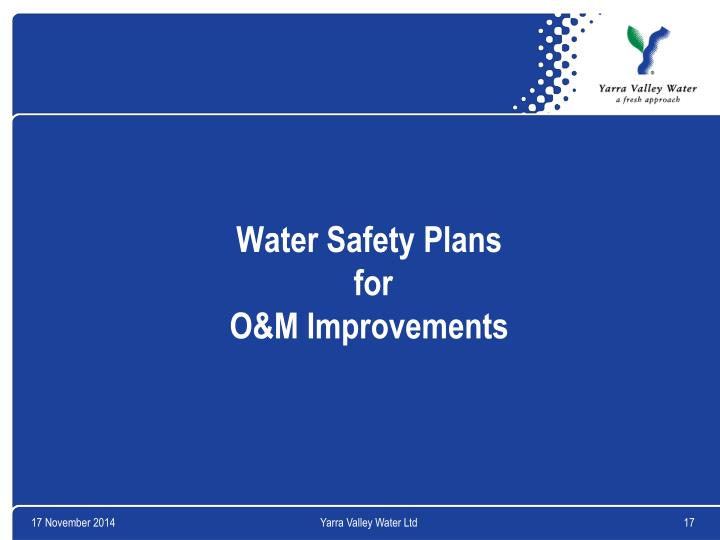 Water Safety Plans