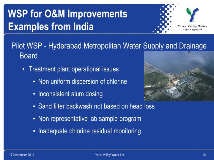 WSP for O&M Improvements