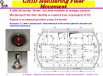 grid monitoring floor movement