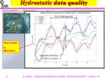 hydrostatic data quality