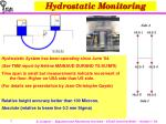 hydrostatic monitoring