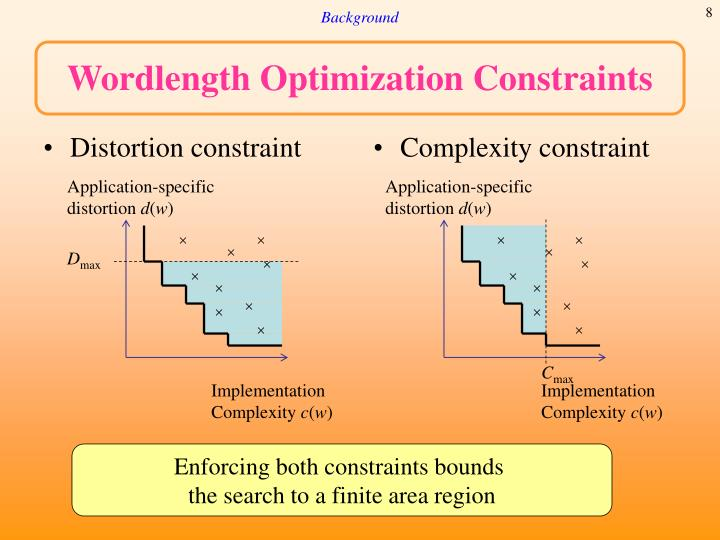 Distortion constraint