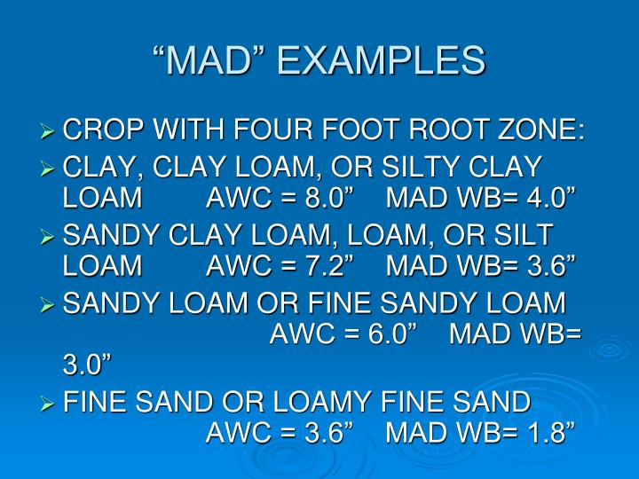 """""""MAD"""" EXAMPLES"""