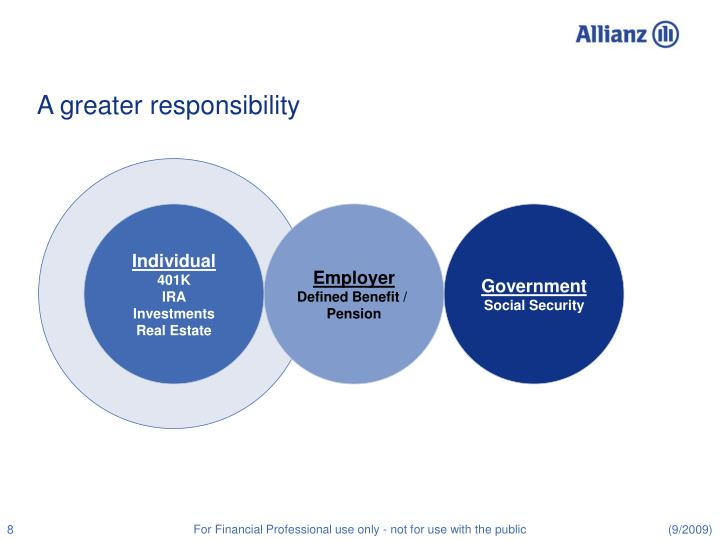 A greater responsibility