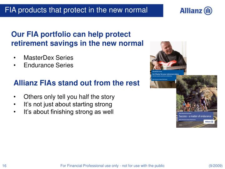 FIA products that protect in the new normal