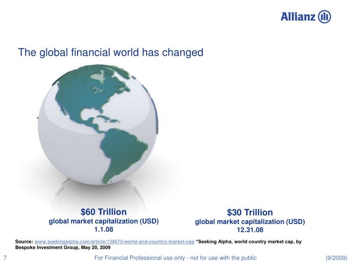 The global financial world has changed