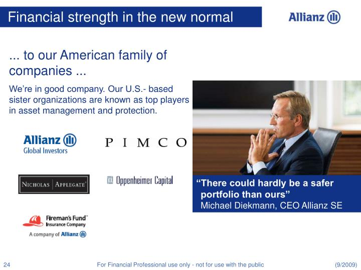 Financial strength in the new normal