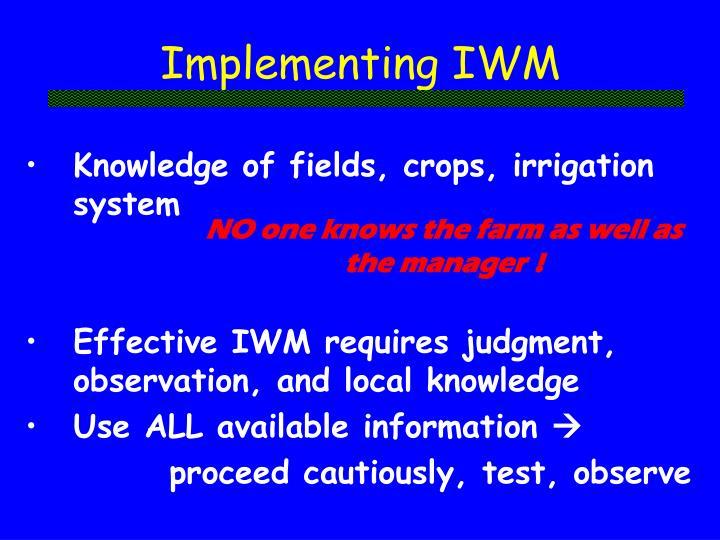 Implementing IWM
