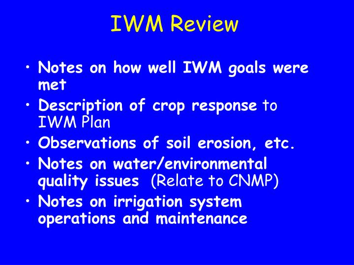 IWM Review