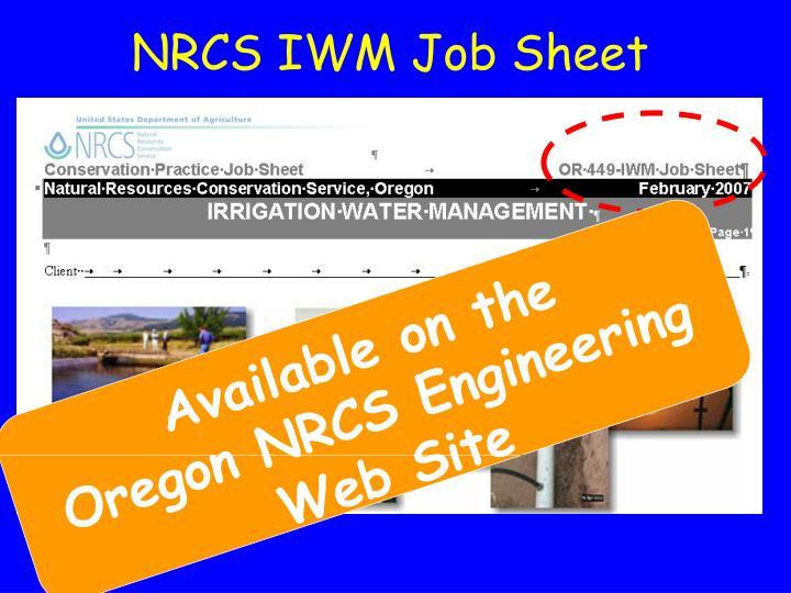 NRCS IWM Job Sheet