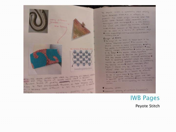 IWB Pages
