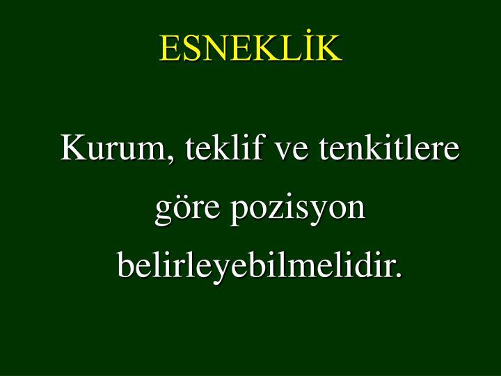 ESNEKLİK