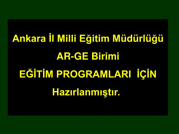 Ankara İl Milli Eğitim Müdürlüğü