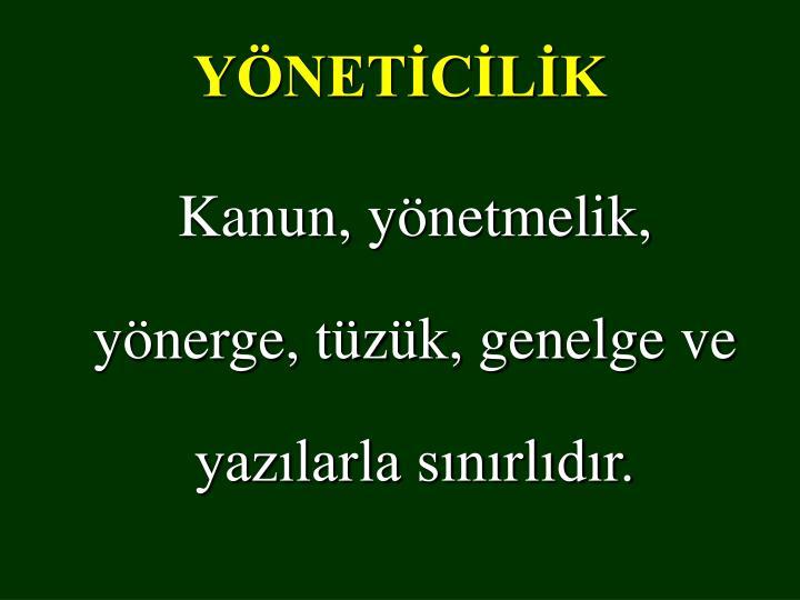 YÖNETİCİLİK