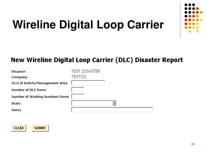 Wireline Digital Loop Carrier
