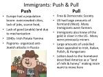 immigrants push pull