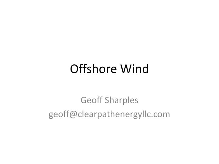 offshore wind n.
