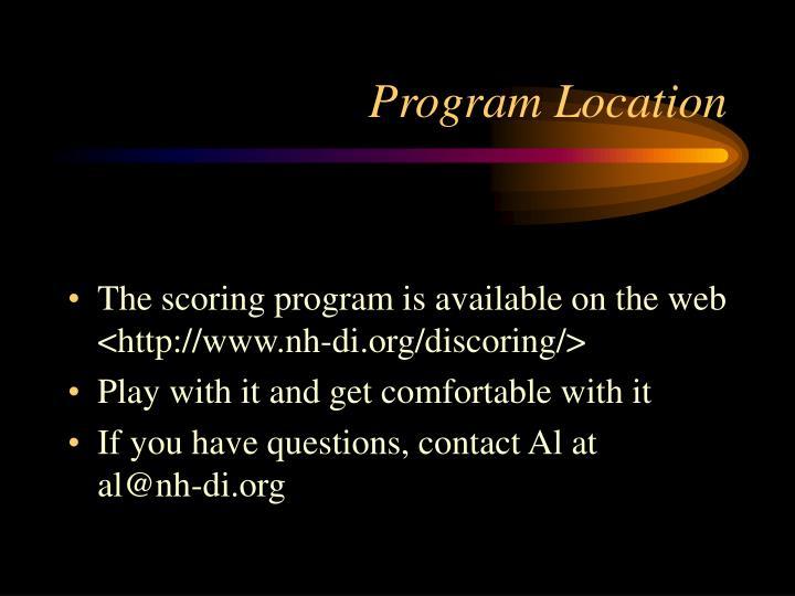 Program Location