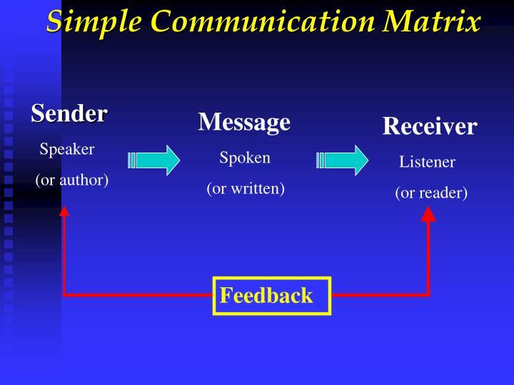Simple Communication Matrix