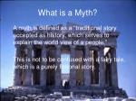 what is a myth