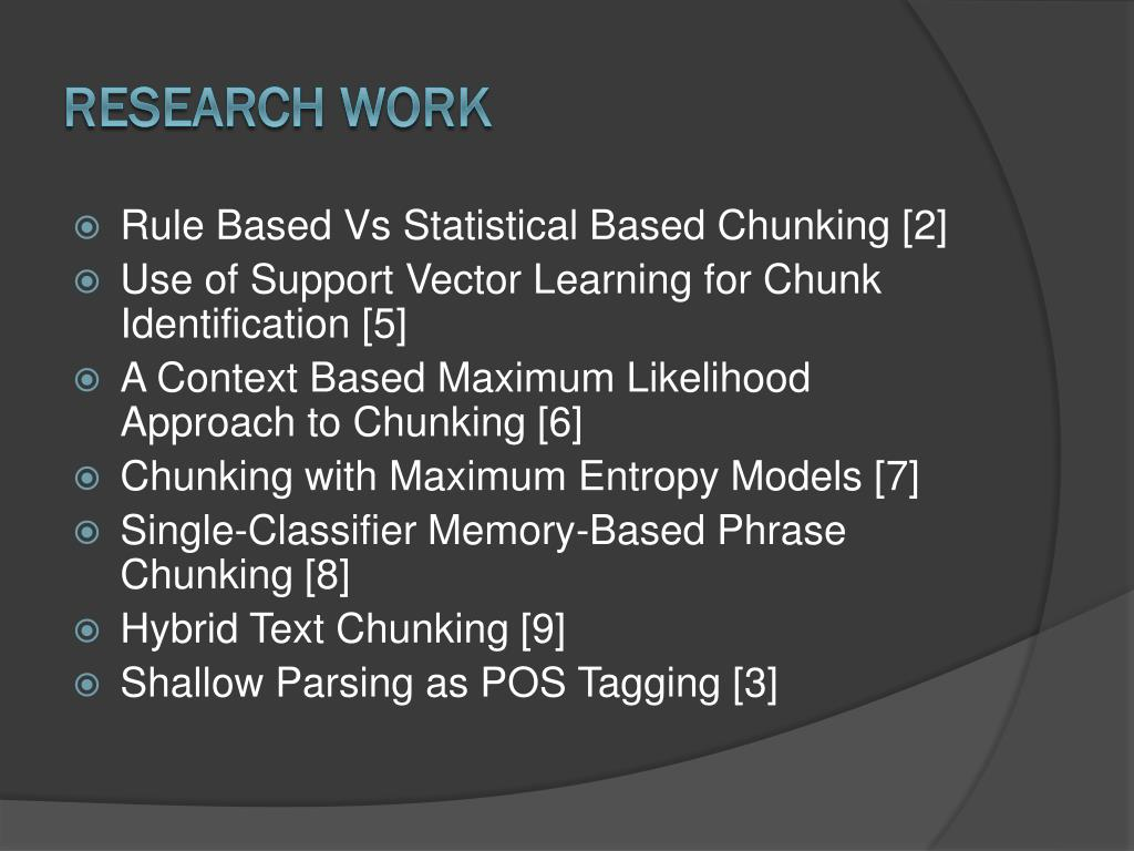 PPT - Chunking Shallow Parsing PowerPoint Presentation - ID:6746611