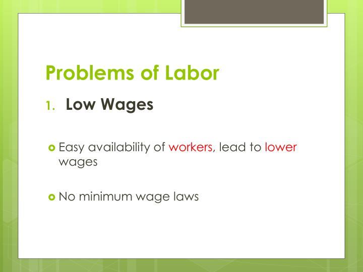 Problems of labor