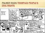 palmer raids trampled people s civil rights