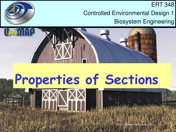 properties of sections n.