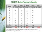 sccpss online testing schedule