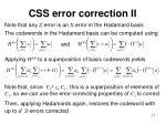 css error correction ii