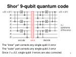 shor 9 qubit quantum code