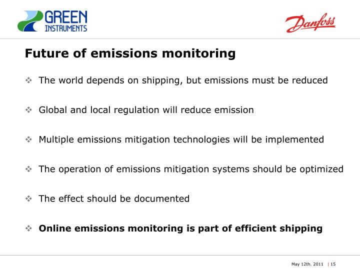 Future of emissions monitoring