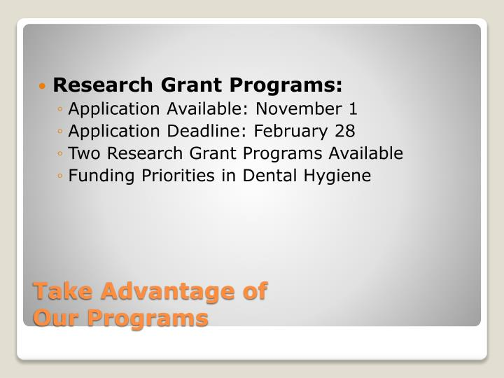 Research Grant Programs: