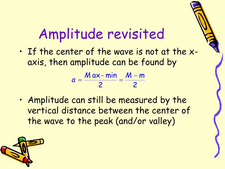 Amplitude revisited