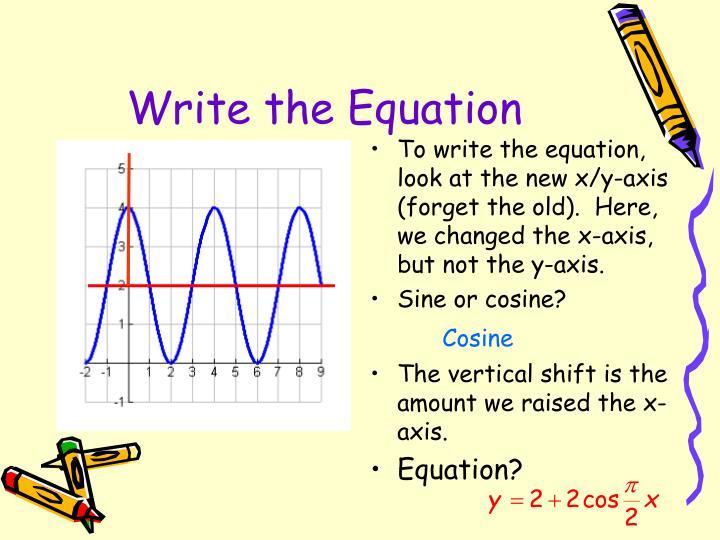 Write the Equation