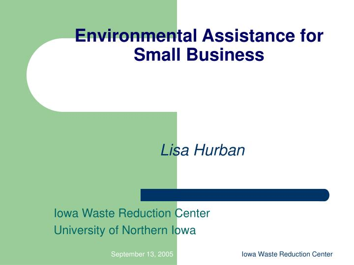 environmental assistance for small business n.