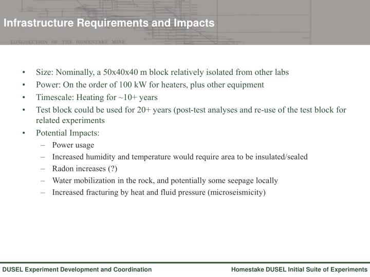 Infrastructure Requirements and Impacts