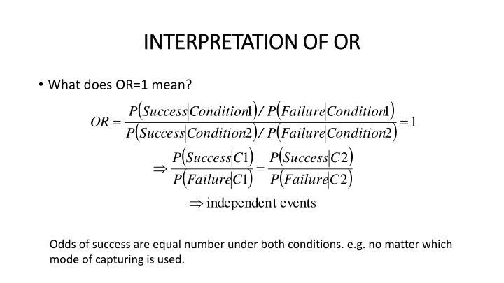 INTERPRETATION OF OR