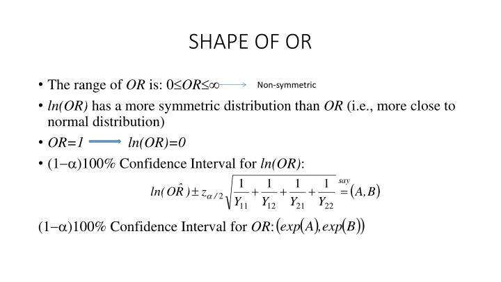 SHAPE OF OR