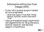 information extraction from images ixi