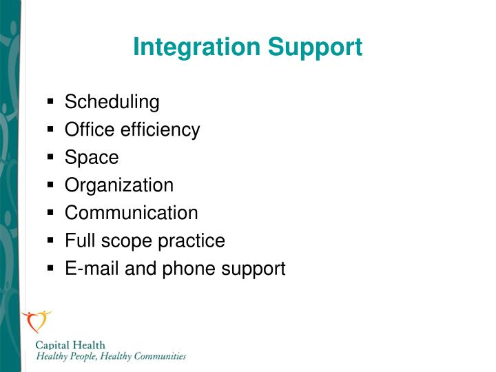 Integration Support